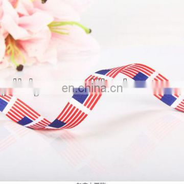 hot sale Amercian flag printed polyester ribbon