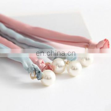 Ladies Fashionable Multicolor Scrunchie with pearl beads