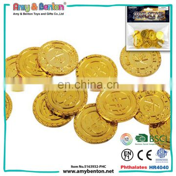 Hot product pirate toy set mini fake plastic gold coins bulk