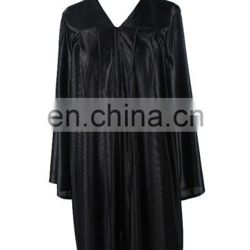 Wholesale black graduation cap and gowns set/graduation robe