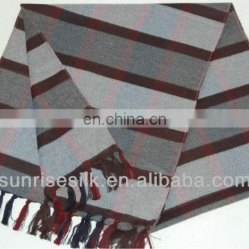 High quality hot sale checked oblong winter cotton scarf
