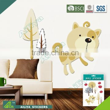 BSCI eco-friendly wholesale vinyl pvc adhesive home decro living room diy anime kids decals custom removable wall stickers                                                                         Quality Choice