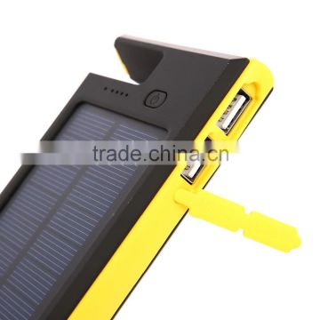 Solar Power Bank 12000mAh high capacity power bank,Dual port usb Portable Solar energy Power Bank Battery Charger for phone
