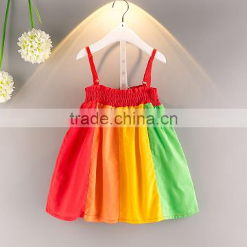 Factory sale Sleeveless girl normal frock Wholesale children s boutique  clothing Multicolor rainbow girl dress of Children Cotton dress from China  Suppliers ... 9354cd7594