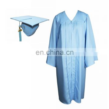Sky Blue Graduation Cap and Gown Set