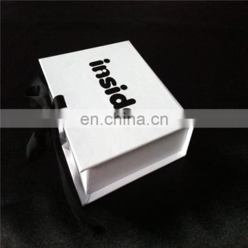 Best sale white color custom logo printed jewelry box
