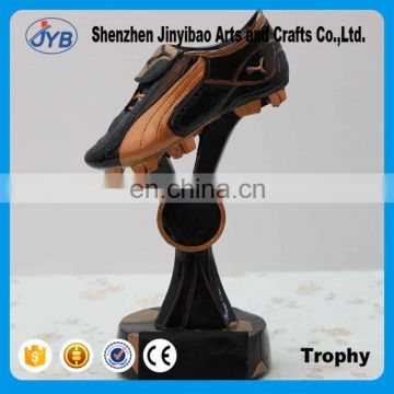 Creative resin Gold and black color gym shoes trophy