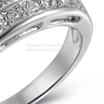 The Platinum Gold Plating Crown Ring Inlay AAA Zircon