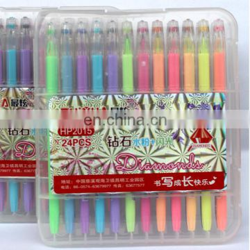 COLORS 24 Gel Pens For Adult Coloring Books 12 Glitter & 12 Metallic Colors