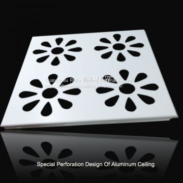 Perforated Pattern Aluminum Clip in Ceiling