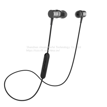 Magnetic metal wire control sports music Bluetooth headset