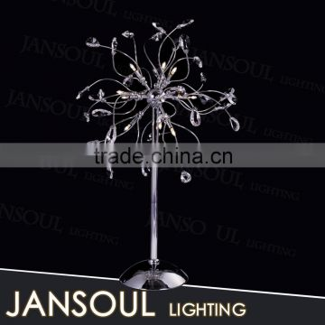 chinese lighting supplier new model fancy crystal chandelier modern table lamp for wedding centerpieces