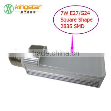 NEW Design G24 LED LAMPS Round&Square 5W/7W/9W/12W G23/G24/E27 LED Plug-in Light g24 led bulbs G24 LED lamp replacement