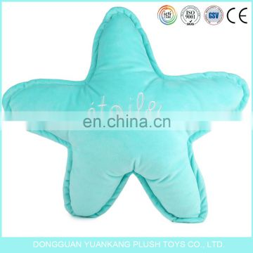 Custom macaron color plush star pillow toys can print your logo