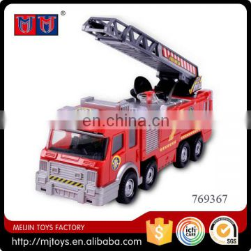 Electric fire car wtih light and music fire fighting truck power toys