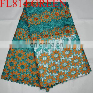 free shipping african beautiful flower cord lace fabric guipure lace fabric