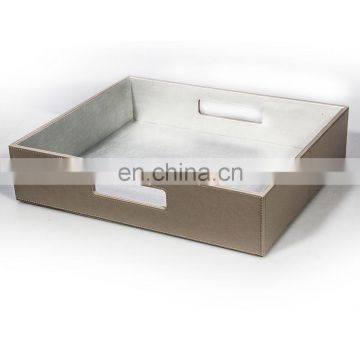 Quality Supplier Excellect Handmade Leather Restaurant Serving Trays