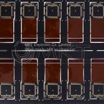 Black Printed Circuit Board with IC