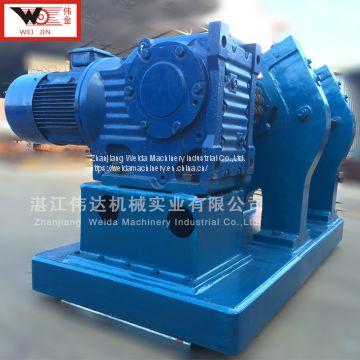 creper machine for dewatering rubber materials