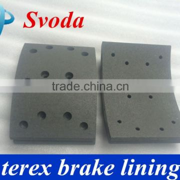 China supplier heavy duty brake shoes for dump truck terex 3305 3306 3307 tr35 tr45 tr50 tr60 tr100