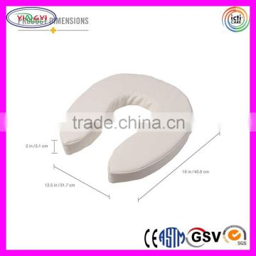 C249 2-Inch Thick Vinyl Foam Toilet Seat Cushion Reduce Pressure Soft Toilet Seat