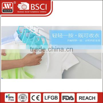 Fashion High Quality Laundry Plastic folding clothes Hangers for Clothes wholesale
