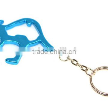 Factory price Aluminum alloy ainmal camel beer bottle opener keychain