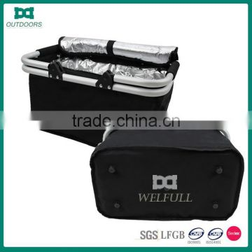 600D Polyester Folding Cooler Picnic Basket