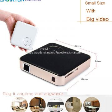 2017 Newest led mini pocket portable dip projector 1080P support pico projector