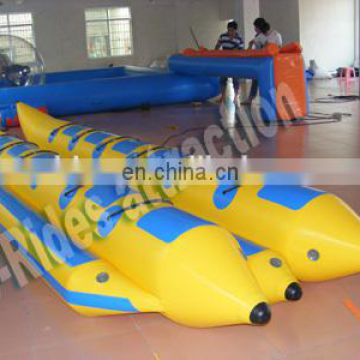 Double Inflatable Floating Banana Boat Water Game For Sale