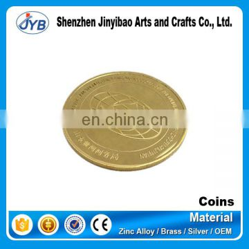 customized metal gold plated tungsten coin for sale