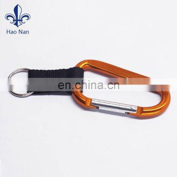 Various color keychain with carabiner in silk screen printing