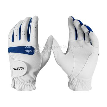 white leather golf gloves manufacturer custom cheap price for sale