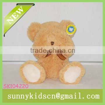2014 HOT selling plush brown bear for stuffed plush toy fiberfill bear toys pp cotton stuffed toy