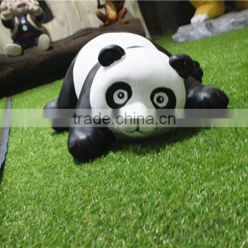 Home garden seats christmas decorative 30cm Height small artificial white and black fiberglass chinese flat Panda E10 28X10