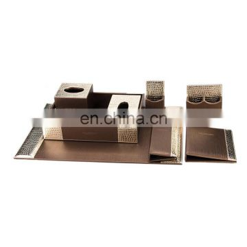 2016 New High Quality Competitive Price Real Leather Office Paper Display Rack