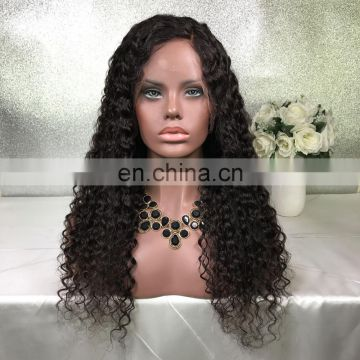 Brazilian Peruvian Human Hair Black Full Lace Wig Bleached Knots Glueless Short Long Curly Lace Front Wigs