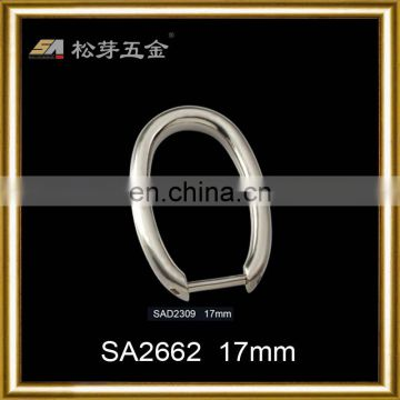 50mm fashionable special zinc alloy open d ring with brass screws