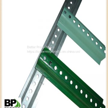 shandong manufacturer supply steel U channel sign post with tapered ends