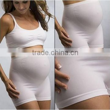 Factoru price Confortable seamless High Waist Pregnant Womens's Underwear/maternity Shorts