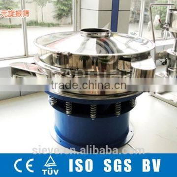 Vibration screening separator for chemical raw material