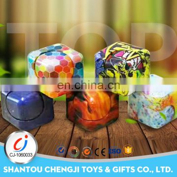 Wholesale multicoloured 3D magical anxiety toy cube for kids