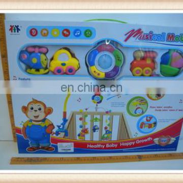 musical plastic baby bed bell