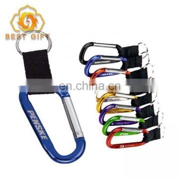 Custom High Quality Ribbon Clip Carabiner For Outsports
