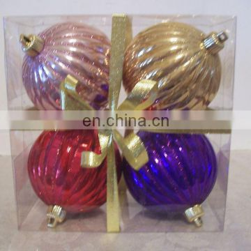 4 GLITTER SHATTER RESIS CHRISTMAS ORNAMENT DECORATIONS
