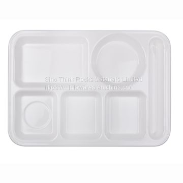 Melamine School & Hospital Lunch Food Rectangle Tray with divider