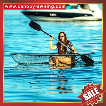 sea river lake ocean crystal polycarbonate transparent touring pc clear fishing sailing boat kayak canoe for sale