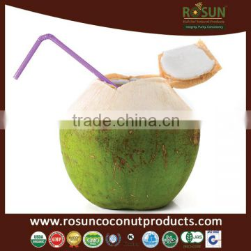 Coconut Water with Pulp in Glass Bottles 300 ml.- Rosun Natural Products Pvt Ltd INDIA