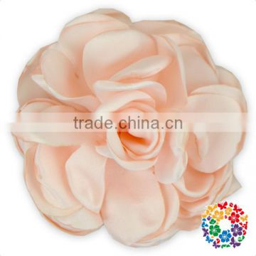 Wholesale Satin Ribbon Flowers Artificial Light Blue Flower Rose Flowers Artificial Cheap Price