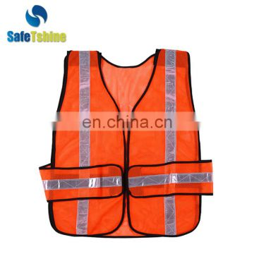 hi-vi reflective protective safety orange reflective vest